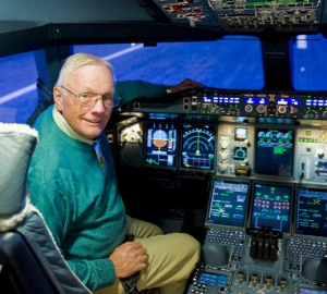 RIP the world's best friend and traveller - Neil Armstrong in an A380 simulator, who said