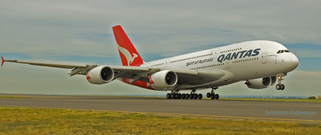 OQA (Nancy Bird-Walton) taking off at Sydney Airport (2012) (Courtesy Richard de Crespigny)