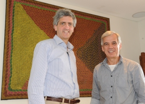 Richard and Michel von Reth (in front of his favorite indigenous artwork). Sydney 2011