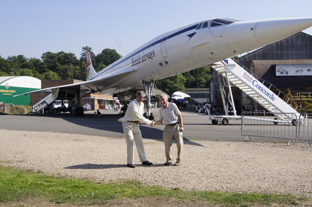 Peter de Crespigny and Captain Christopher Orlebar (Brooklands 2013)
