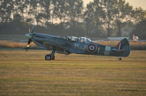 My father, Peter de Crespigny, 87, taking off in a Spitfire, September 2013.