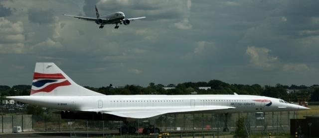 British Airways Concord at London Heathrow airport (Photo RDC)