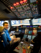 Alex de Crespigny in the A380 Cockpit