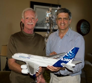Sully Sullenberger (stress tested and case hardened skeptic) and me.
