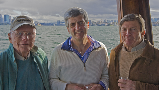 Neil Armstrong, me, my father Peter on Sydney harbour 2011