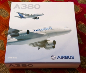 A380 model 1:400 (Richard de Crespigny)