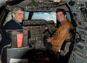 Andrew Eccles in the Concorde simulator at Brooklands, UK (Photo RDC)
