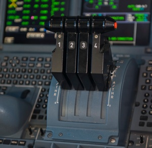 A380 Thrust Levers (Courtesy Richard de Crepsigny)
