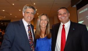 Rob Walker (Airservices) and wife Tanya with Richard (Courtesy Neva Cavenagh)