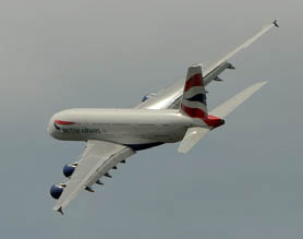 British Airways brand new A380 at the Paris Air Show - 2013 (Courtesy Richard de Crespigny)