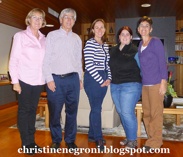 Pip Smith, Dick Smith, Coral, Sophia de C, Christine Negroni (Photo: Christine)
