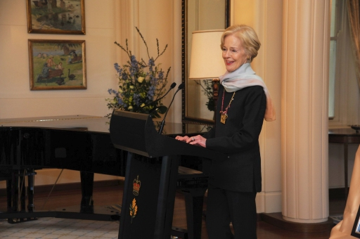 The Governor-General addresses guests at the event.