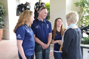 The Governor-General meets DWA athletes during the event.