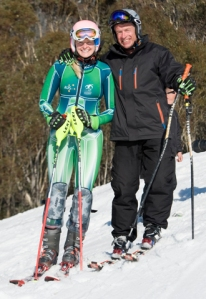 Jess Gallagher (Silver Medalist), Eric Bickerton (CEO, Disabled WinterSport Australia)