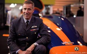Andy Green and his Bloodhound Super Sonic Car