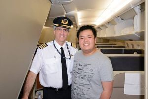 Edward Leung after Hong Kong - Sydney flight Feb 2014