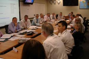 The airline Crisis Centre.  Photo taken during the QF32 event.  (Photo Qantas)