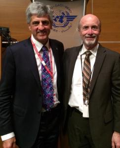 "My good friend Bill Voss in the General Assembly Hall at ICAO, after the ""NANCY-BIRD WALTON LECTURE"". 26 January 2016. https://qf32.aero/2016/01/09/7896/"