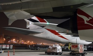 Packing the A380s in at  Dubai (Photo RDC)