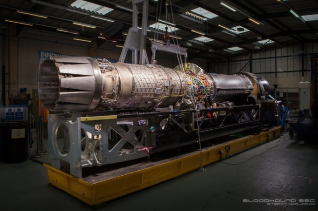 Rolls-Royce Eurojet EJ200 jet engine powers Bloodhound