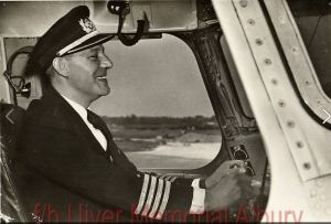 Capt. Parmentier, taken shortly before his tragic loss in the crash of his Lockeed Constellation (Photo: AlburyUiver.com)