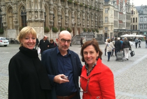 Heidi and Jaak de Konink and Coral in Belgium