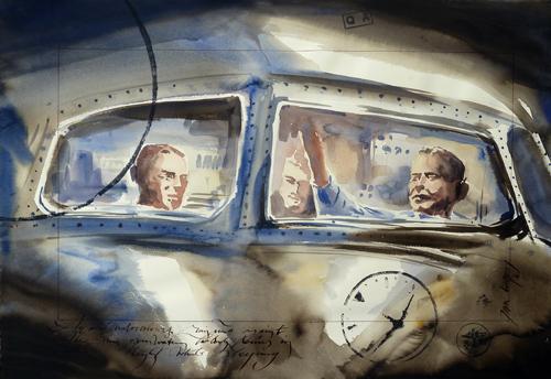 Lost in Space (Painting Jaak de Koninck - www.jaakdekoninck.be)