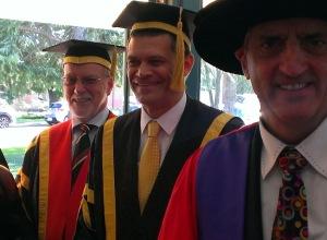 Peter Hayes (Deputy Chancellor - CSU) and Professor Vann (Vice Chancellor & President CSU) (Photo CSU)