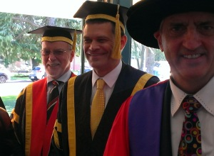 Peter Hayes (Deputy Chancellor - CSU) and Professor Vann (Vice Chancellor & President CSU) (Photo CSU)