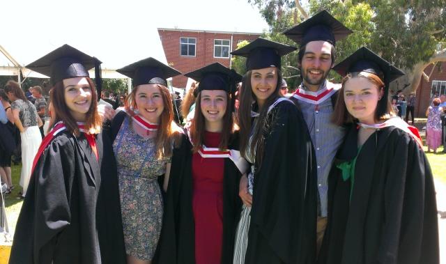 Graduates, Arts Faculty , Charles Sturt University at the Wagga Wagga campus on 15 December 2014 (Photo CSU)