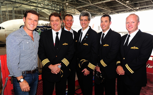 Karl Stefanovic with Dave, Harry, me and Mark taken during a 60 Minutes interview (Photo: 60 Minutes)