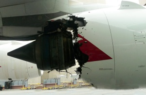 A good picture of an uncontained turbine failure