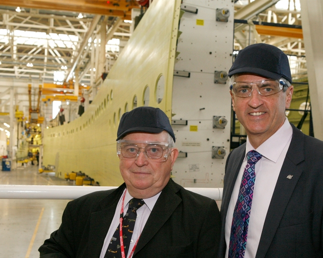 Frank Ogilvie, father of the A380 at the Airbus Wing Factory (Photo: Airbus)