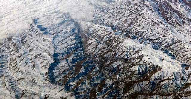 South west Turkey from 40,000 feet (24 dec 2015)