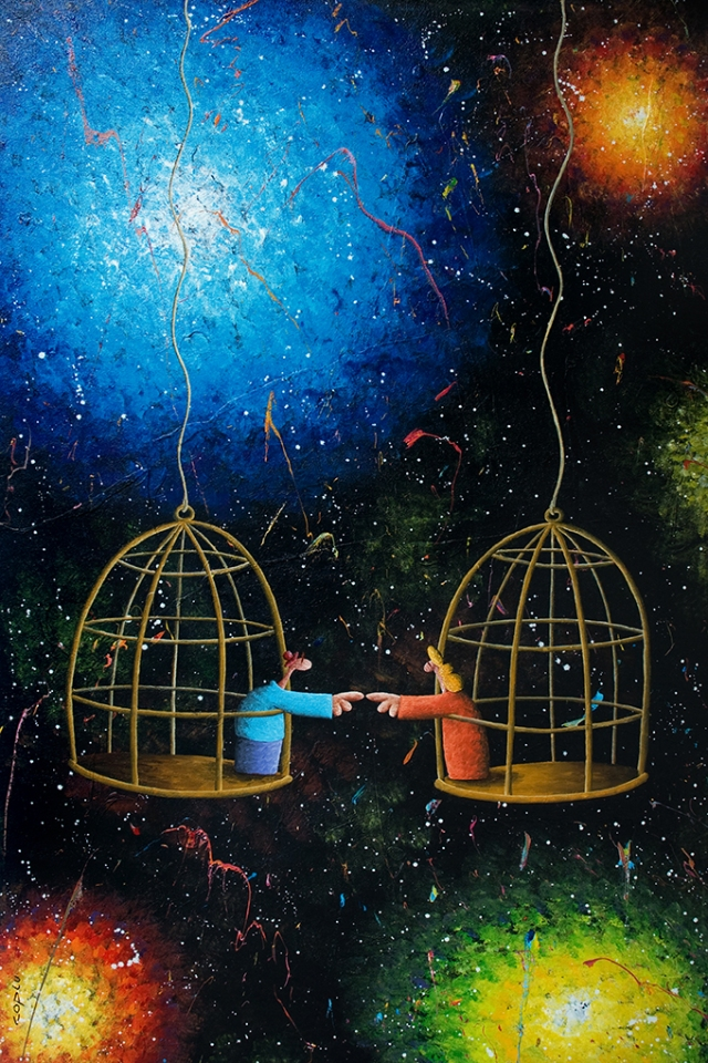 "Side by Side: Two ""bird in a gilded cage"" (by Coplu, coplu.com)"