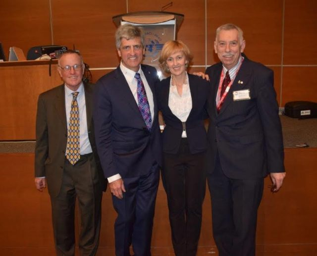 Kerryn Macaulay Head of Mission Australian Representative on the Council of ICAO . Capt Donald L Van Dyke, FRAeS Permanent Representative to ICAO RAeS (Photo Bernard C Cornell CD)