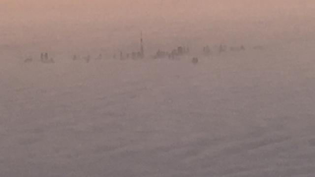 Dubai under fog - December 2016
